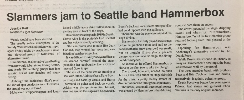 Slammers jam to Seattle band Hammerbox